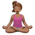 Person in Lotus Position: Medium Skin Tone on Apple iOS 11.2