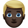 Blond-Haired Person: Dark Skin Tone on Apple iOS 11.2