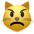 Pouting Cat Face on Apple iOS 11.2
