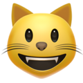 Grinning Cat Face on Apple iOS 11.2