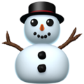 Snowman Without Snow on Apple iOS 11.2