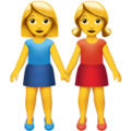 Two Women Holding Hands on Apple iOS 11.2