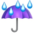 Umbrella With Rain Drops on Apple iOS 11.2