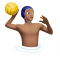 Person Playing Water Polo: Medium Skin Tone on Apple iOS 11.2