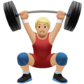 Person Lifting Weights: Medium-Light Skin Tone on Apple iOS 11.2