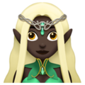 Woman Elf: Dark Skin Tone on Apple iOS 11.2