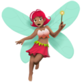 Woman Fairy: Medium Skin Tone on Apple iOS 11.2