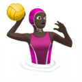 Woman Playing Water Polo: Dark Skin Tone on Apple iOS 11.2