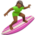 Woman Surfing: Medium-Dark Skin Tone on Apple iOS 11.2