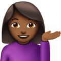 Woman Tipping Hand: Medium-Dark Skin Tone on Apple iOS 11.2