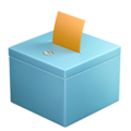 Ballot Box With Ballot on Apple iOS 11.3