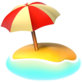 Beach With Umbrella on Apple iOS 11.3