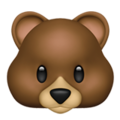 Bear Face on Apple iOS 11.3