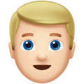 Blond-Haired Man: Light Skin Tone on Apple iOS 11.3