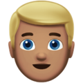 Blond-Haired Man: Medium Skin Tone on Apple iOS 11.3