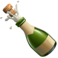 Bottle With Popping Cork on Apple iOS 11.3