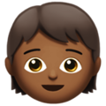 Child: Medium-Dark Skin Tone on Apple iOS 11.3