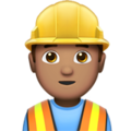 Construction Worker: Medium Skin Tone on Apple iOS 11.3