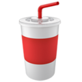 Cup With Straw on Apple iOS 11.3