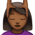 Person Getting Massage: Medium-Dark Skin Tone on Apple iOS 11.3