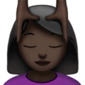 Person Getting Massage: Dark Skin Tone on Apple iOS 11.3