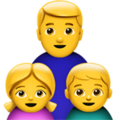 Family: Man, Girl, Boy on Apple iOS 11.3