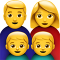 Family: Man, Woman, Boy, Boy on Apple iOS 11.3