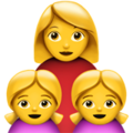 Family: Woman, Girl, Girl on Apple iOS 11.3