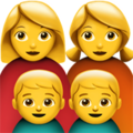 Family: Woman, Woman, Boy, Boy on Apple iOS 11.3
