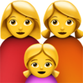 Family: Woman, Woman, Girl on Apple iOS 11.3