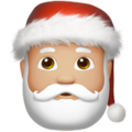 Santa Claus: Medium-Light Skin Tone on Apple iOS 11.3