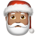Santa Claus: Medium Skin Tone on Apple iOS 11.3