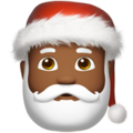 Santa Claus: Medium-Dark Skin Tone on Apple iOS 11.3