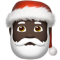 Santa Claus: Dark Skin Tone on Apple iOS 11.3
