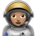 Woman Astronaut: Medium Skin Tone on Apple iOS 11.3