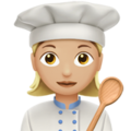 Woman Cook: Medium-Light Skin Tone on Apple iOS 11.3