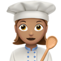Woman Cook: Medium Skin Tone on Apple iOS 11.3