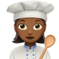 Woman Cook: Medium-Dark Skin Tone on Apple iOS 11.3
