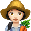 Woman Farmer: Light Skin Tone on Apple iOS 11.3