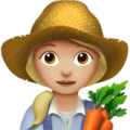 Woman Farmer: Medium-Light Skin Tone on Apple iOS 11.3