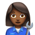 Woman Mechanic: Medium-Dark Skin Tone on Apple iOS 11.3