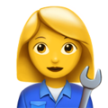 Woman Mechanic on Apple iOS 11.3