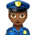 Woman Police Officer: Medium-Dark Skin Tone on Apple iOS 11.3