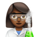 Woman Scientist: Medium-Dark Skin Tone on Apple iOS 11.3