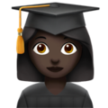 Woman Student: Dark Skin Tone on Apple iOS 11.3