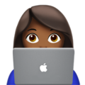 Woman Technologist: Medium-Dark Skin Tone on Apple iOS 11.3