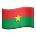 Burkina Faso on Apple iOS 11.3