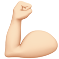 Flexed Biceps: Light Skin Tone on Apple iOS 11.3