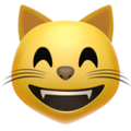 Grinning Cat Face With Smiling Eyes on Apple iOS 11.3
