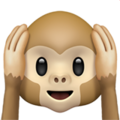 Hear-No-Evil Monkey on Apple iOS 11.3